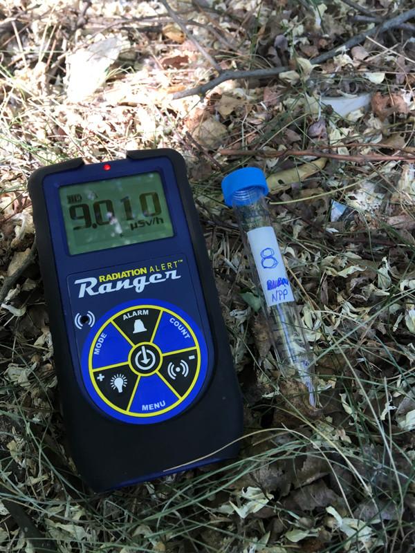 Soil-sample-reading-near-the-NPP